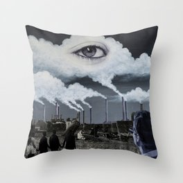 Ether Emission Throw Pillow
