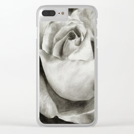Charcoal Rose Clear iPhone Case