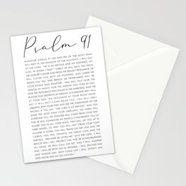 Psalm 91 Whoever dwells in the shelter of the Most High Stationery Cards