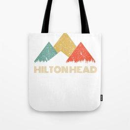 Retro City of Hilton Head Mountain Shirt Tote Bag