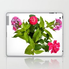 Roses and Phlox Bouquet in a Bird's Eye View Laptop & iPad Skin