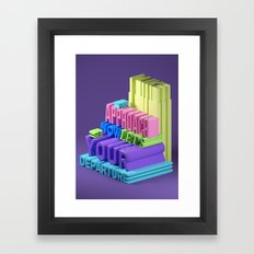 Typographic Insults #5 Framed Art Print
