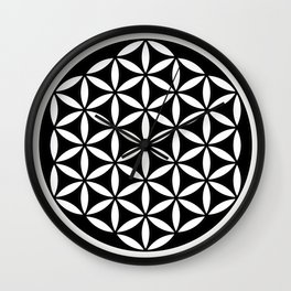 Flower of Life Yin Yang Wall Clock
