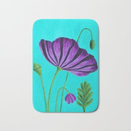 Purple Poppies Bath Mat