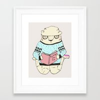 psychology Framed Art Prints featuring Foot Psychology by Maria Alliaud