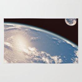 Earth and Moon Rug