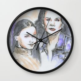 Lorelai & Rory Wall Clock