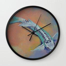 Silver and Jade Wall Clock