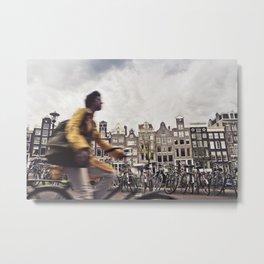 Amsterdam Bicycle Metal Print