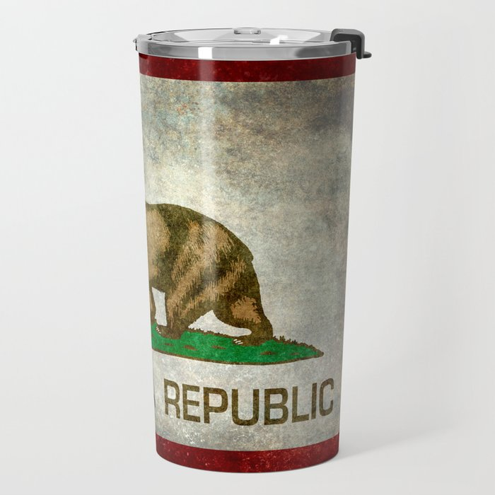 California Republic state flag Vintage Travel Mug