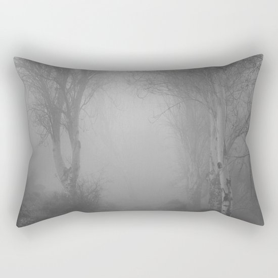 """""""Follow it,  love your forests....."""". Monochrome Rectangular Pillow"""