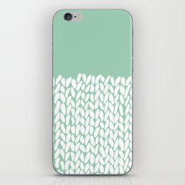 Half Knit Mint iPhone Skin