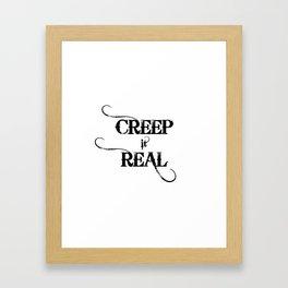 Funny Creep It Real Halloween Framed Art Print