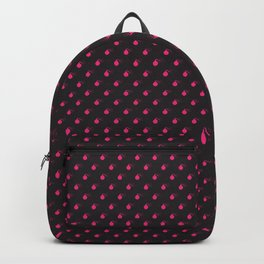 BLACK & HOT PINK BOMB DIGGITYS ALL OVER SMALL Backpack