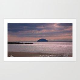 the ailsa craig ,scotland Art Print