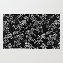 Space Travellers-Fun Doodles-Mix and Match with Simplicity of Life Rug