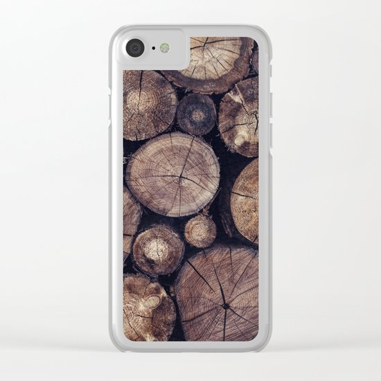 The Wood Holds Many Spirits // You Can Ask Them Now Edit Clear iPhone Case