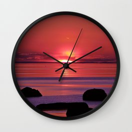 Sunset Ripples Wall Clock