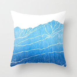 Colorado Mountain Ranges_Breckenridge Tenmile Range Throw Pillow