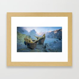 Ijen, Indonesia Framed Art Print