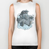 yeti Biker Tanks featuring Yeti by David Comito