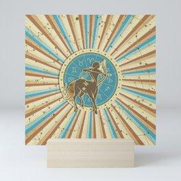 Vintage Sagittarius Zodiac Art Mini Art Print