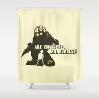 bioshock Shower Curtains featuring Bioshock: Are you there, Mr. bubbles? by dutyfreak