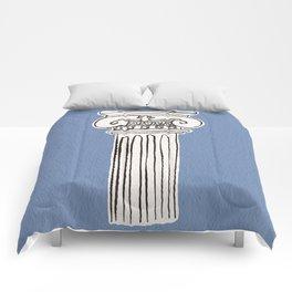 Greek ionic column Comforters