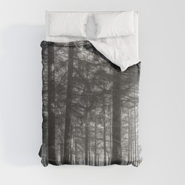 Black and white woods - North Kessock, Highlands, Scotland Comforters