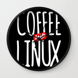 Geek Linux Coffee Nerd PC Sayings Wall Clock