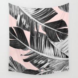 Tropical Blush Banana Leaves Dream #7 #decor #art #society6 Wall Tapestry