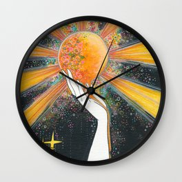 Hold onto your sun Wall Clock