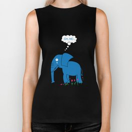 Sad Elephant Biker Tank