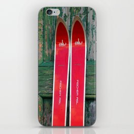Vintage Skis - Fischer Alu iPhone Skin