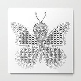mothman butterfly ecopop Metal Print