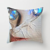 gem Throw Pillows featuring GEM by ALEX WAS HERE