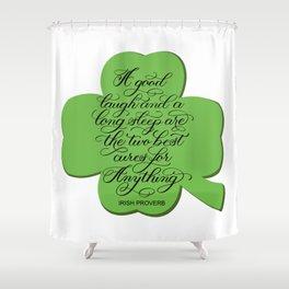 St. Patrick's Day Shamrock Irish Proverb Shower Curtain