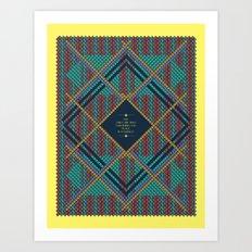 Calico War Chief Says... Art Print