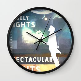 Less Lonely Nights [And More Spectacular Sights] Wall Clock