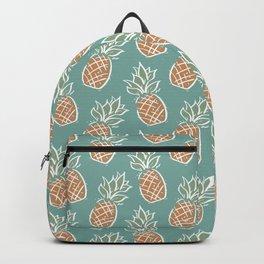Pineapples | Teal Backpack