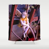 fairies Shower Curtains featuring i believe in fairies by Lisa Carpenter