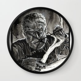 The Wolfman Wall Clock