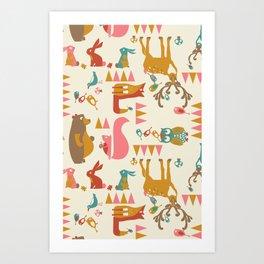 Forest Hideaway-multi Art Print