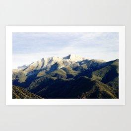 Ojai Valley With Snow Art Print
