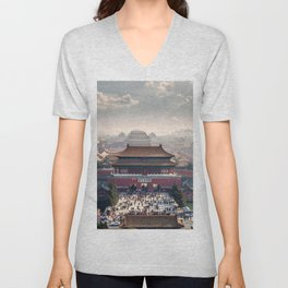 Historically Charged Forbidden City Beijing China Asia Ultra HD Unisex V-Neck