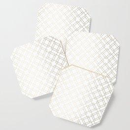 Simply Mod Diamond White Gold Sands on White Coaster