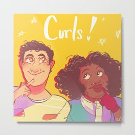 Curls! Metal Print