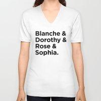 golden girls V-neck T-shirts featuring Golden Girls by HipsterFangirl