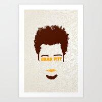 brad pitt Art Prints featuring Brad Pitt Minimalist by Maxvtis