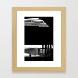 Talking to the Traffic Framed Art Print